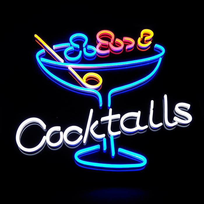 Led neon flex lighting strip making cocktail led neon sign Custom Neon Sign