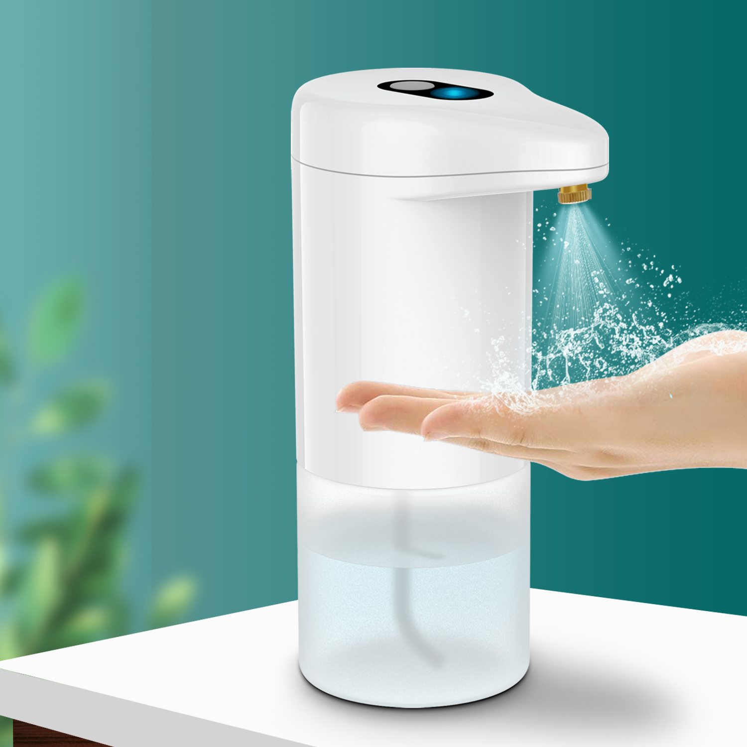 Linkwin Hot products top 20 touch free infrared induction smart 300ml sensor hand wash dispenser for free shipping