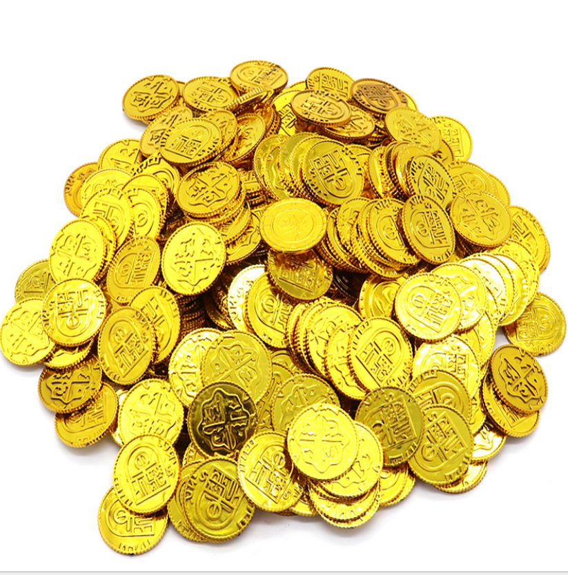 Spaanse Plastic Pirate Gold Coin