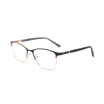 Diopter power metal optical lens stock rhinestone eyeglasses