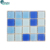 Factory Wholesale Sky Blue Square Glass Tile Swimming Pool Mosaic For Sale
