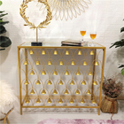 New Arrival Design Modern Furniture Marble Gold Hallway Metal Luxury Mirror Top Console Table
