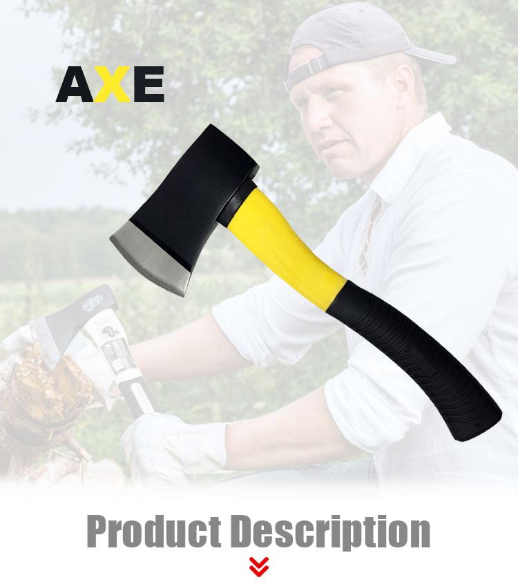 Factory Custom Logo Carbon Steel Axe Hatchet With TPR Handle