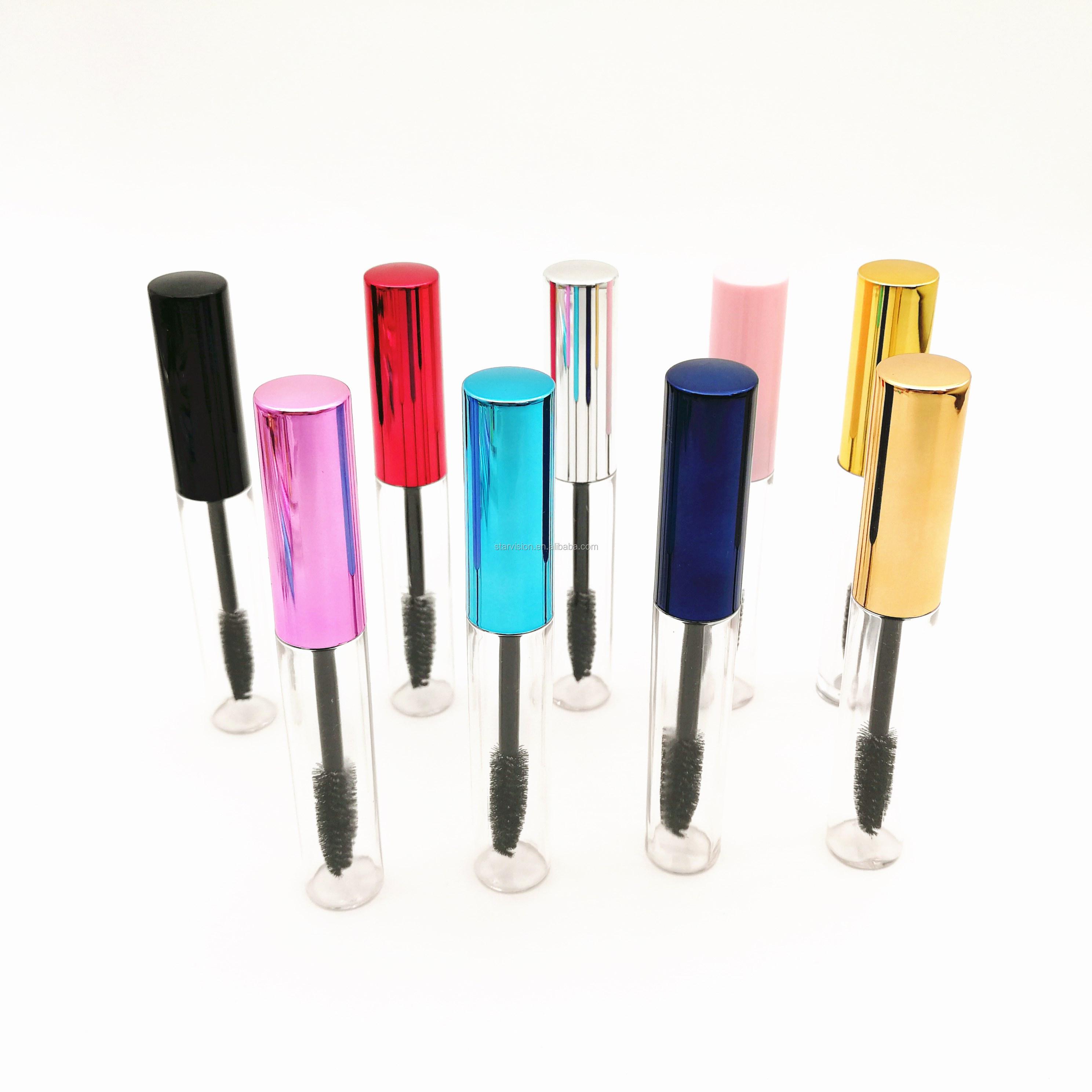 10ml clear empty mascara wand bottle mascara tube with brush