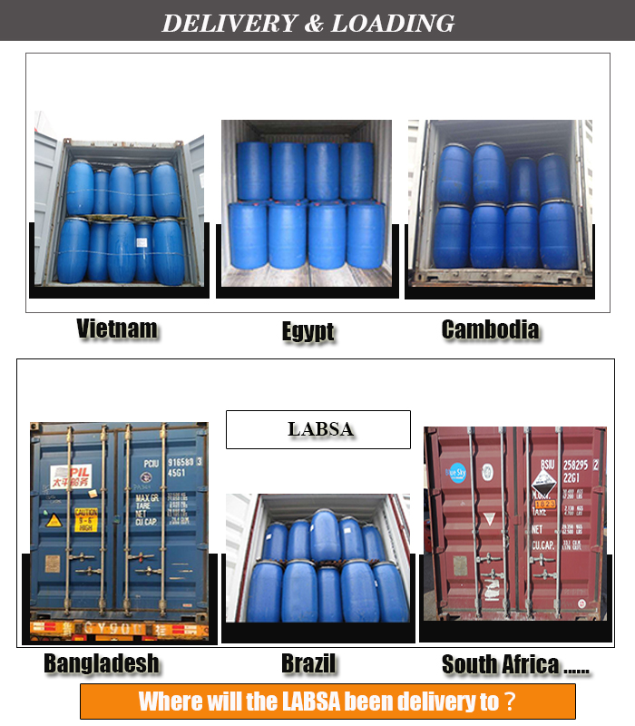 Brown liquid linear alkyl benzene sulphonic acid(labsa)