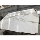Honed calacatta marble slab