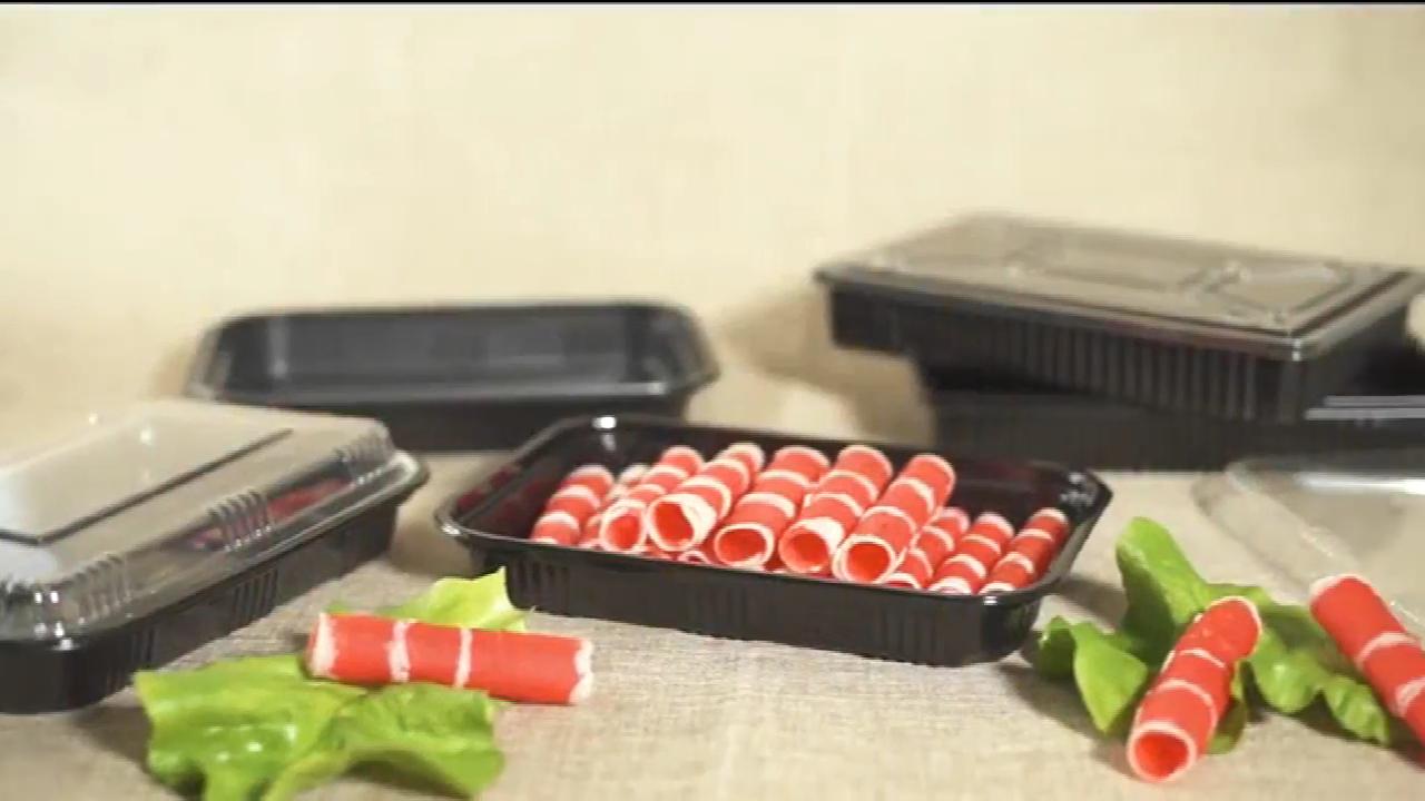 علبة طعام بلاستيكية لتعبئة الطعام من البلاستيك