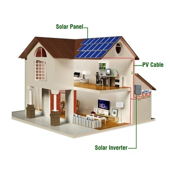 hot sell in USA Alicosolar home roof mounting  5kw, 10kw,20kw  on grid for solar panel system on grid 10kw solar kits