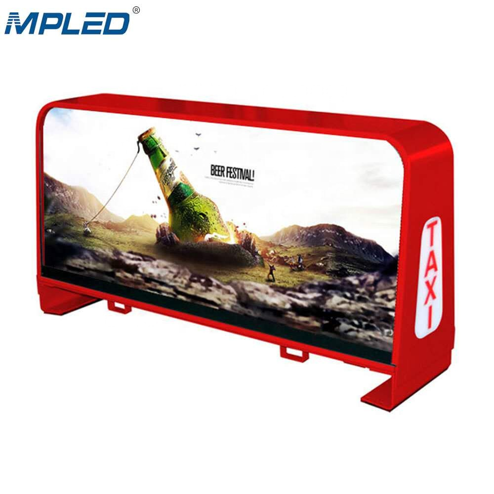 MPLED auto display banner P2.5 P5 drahtlose taxi auto taxicab led top licht display
