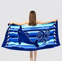 Custom Colorful sublimation Printing microfiber beach towel, Swimming Towel, Travel Towel