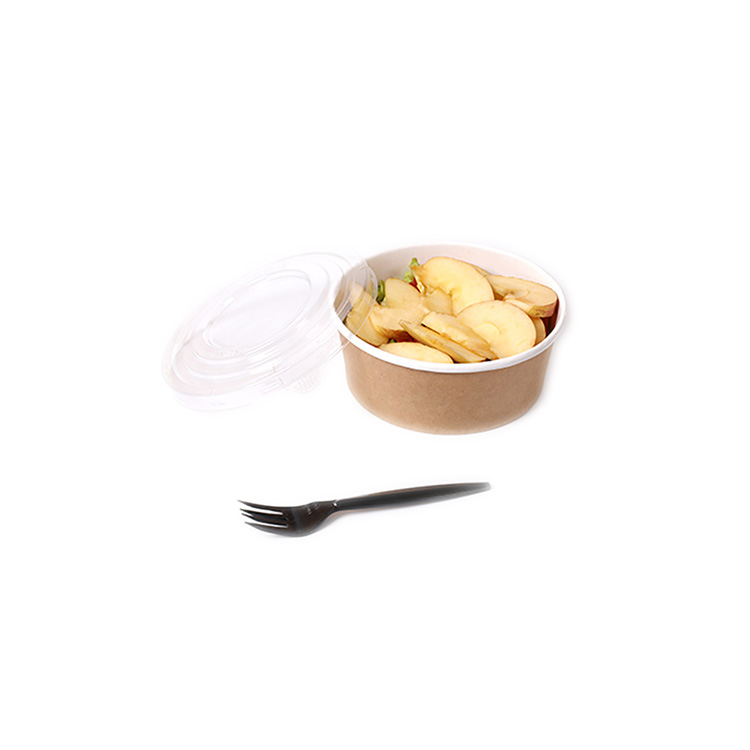 32oz 42 once PLA rivestimento kraft insalata ciotola di carta con coperchio