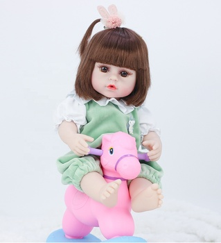 Mini Size 15 Inches Good Quality Cheap Price Realistic Full Silicone New born Baby Girl Doll Toys For Sale