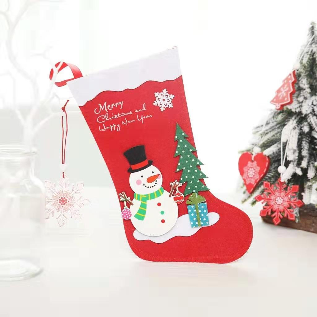Wholesale cheap baby Christmas Tree Decoration stocking Xmas Home Party gift bag