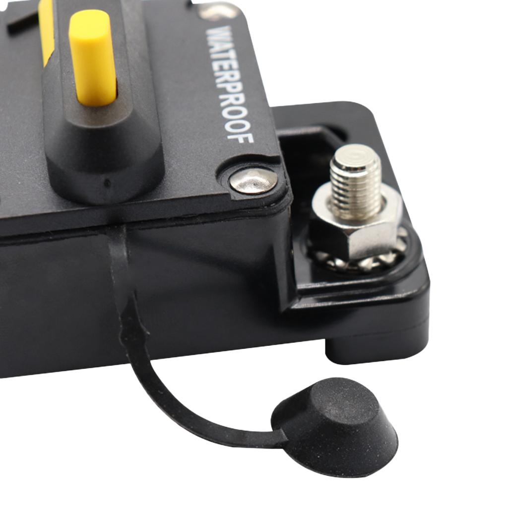 40A Black Car Audio Circuit Breaker Inline Fuse Inverter Waterproof Manual Reset