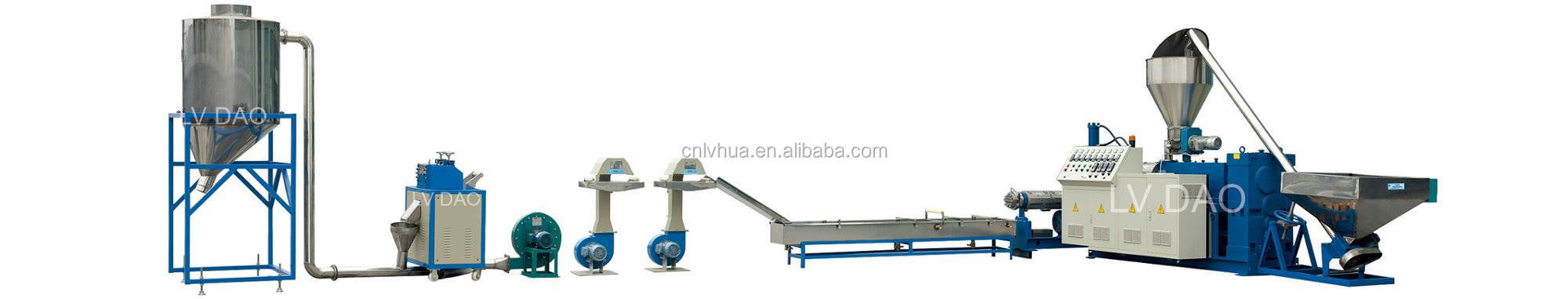 PVC conical twin screw extrusion and pelletizing machine line