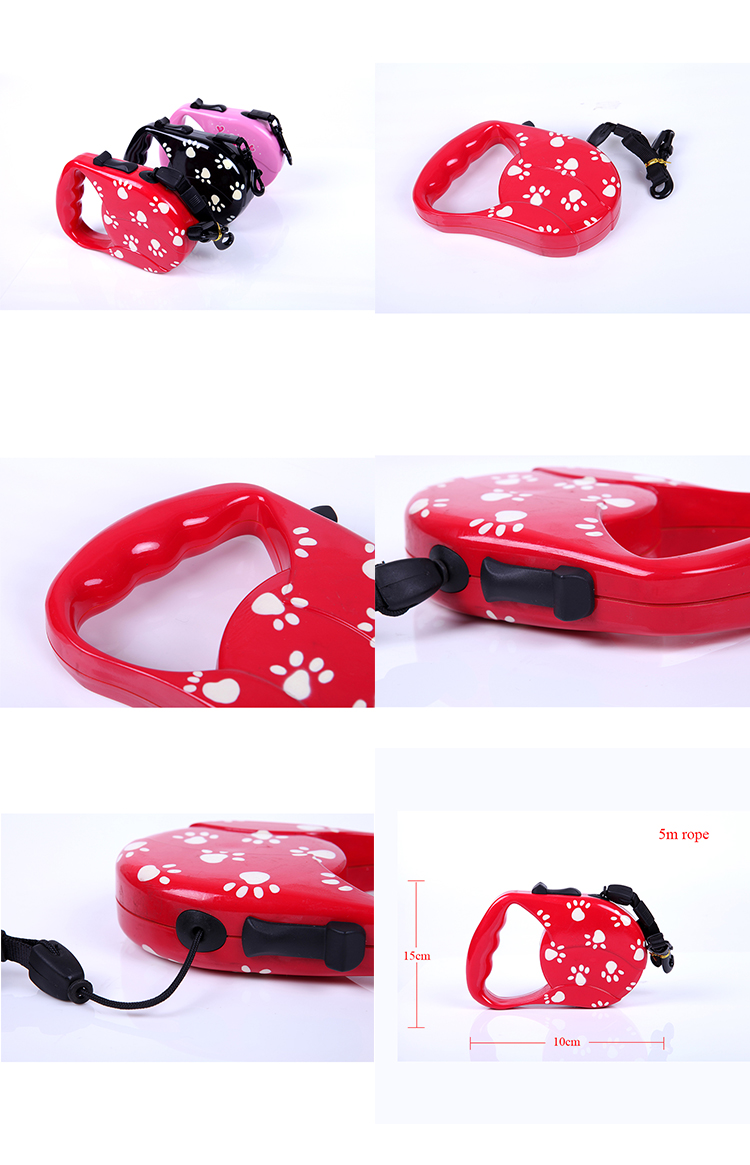 Custom Made Innovative Private Label Retractable Dog Leash with One Button Brake & Lock