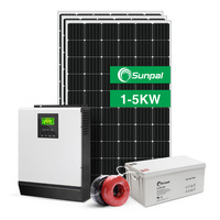 Complete Solar Energy System Home 5KW 3KW Off Grid Hybrid Solar Panel Power System 1KW 2KW 4KW