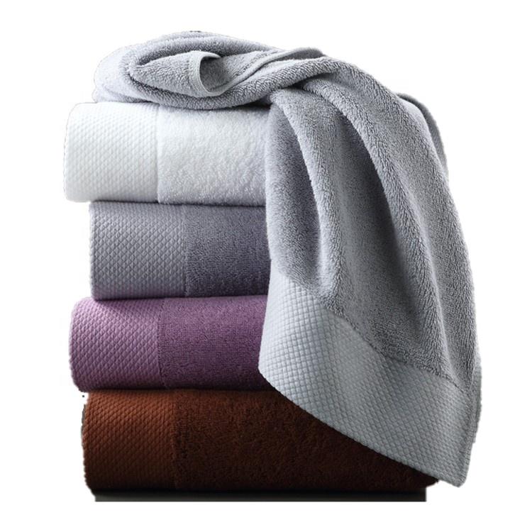 Toptan Lüks Havlu Seti Banyo + Yüz + el havluları % 100% Mısır Pamuk Beyaz banyo havlusu