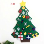 Large Size Xmas Gifts Ornament Decor 3D DIY Hanging Decorations Felt Christmas Tree
