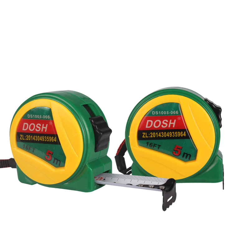 Dongsheng 3 meters 5 meters 7.5 meters 10 m stainless steel tape <strong>measure</strong> New green yellow nylon coated thick steel tape