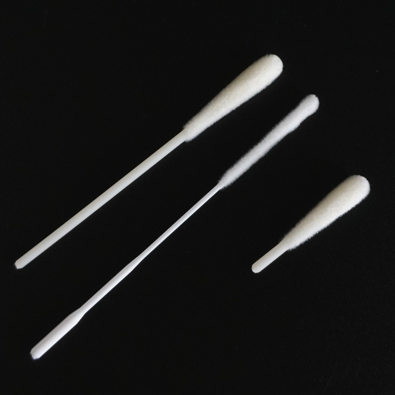 Manufacture Sell Nasopharyngeal Nasal Oral Medical Sterile Flocked Collection Testing dacron swab