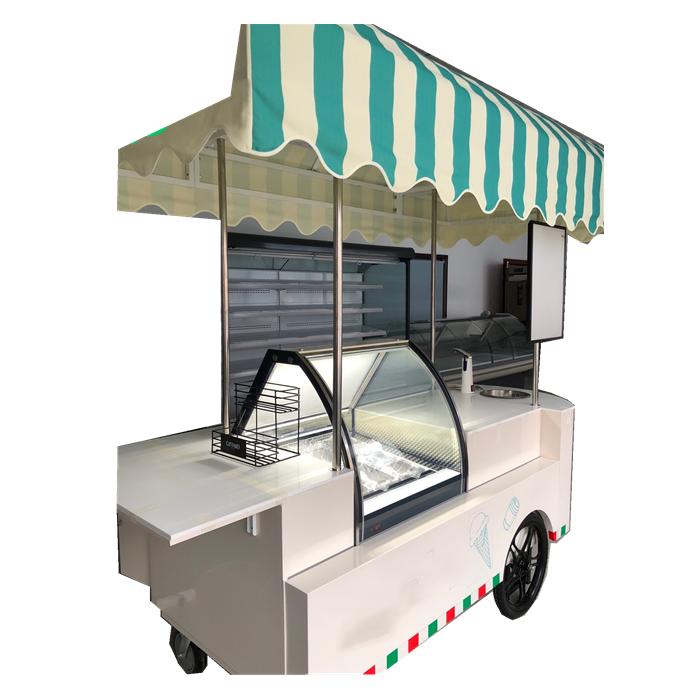 ハンドプッシュ屋外商業携帯アイスクリーム食品カート