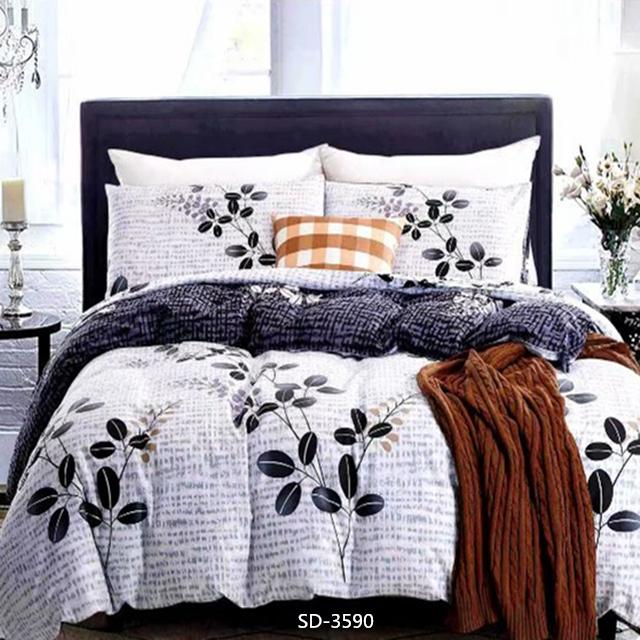 100% पॉलिएस्टर microfiber फैलाने मुद्रण Duvet बिस्तर शीट सेट