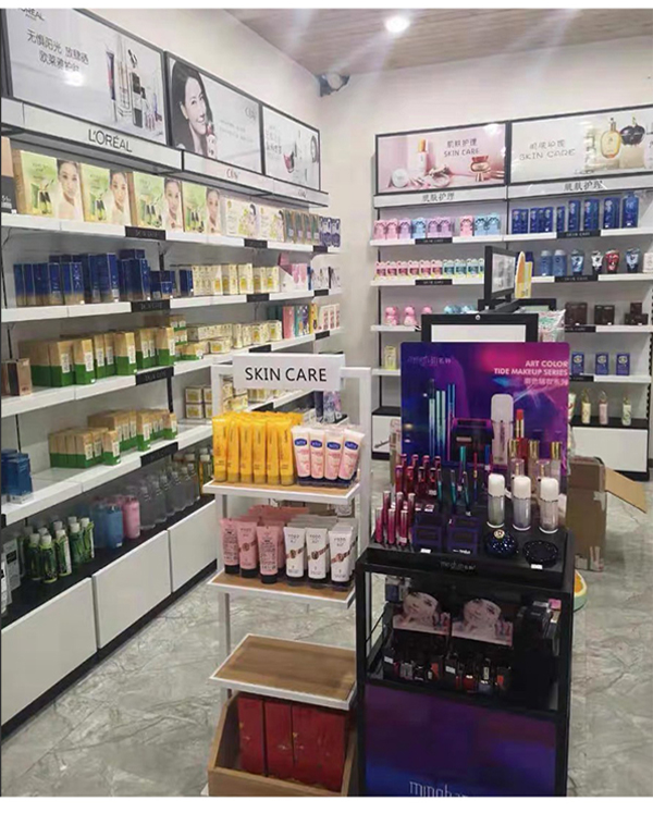 Customized Cosmetics Display Shelf For Skin Care Products