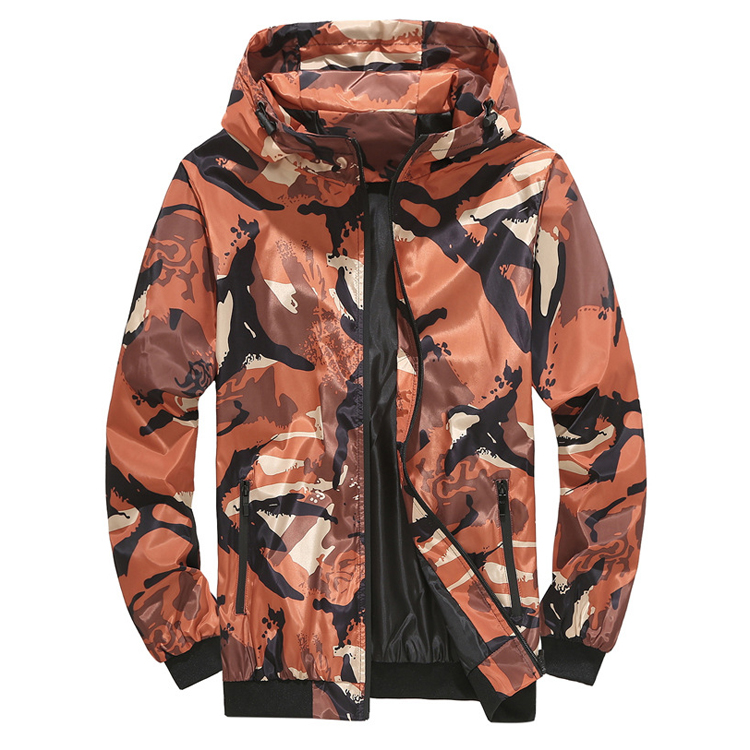 Custom No MOQ Outdoor Winter Camouflage Keep Warm Windbreaker