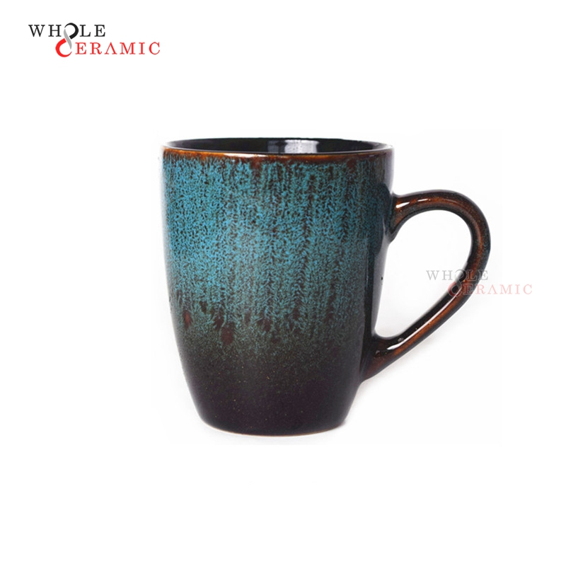 Hot Sale Dishwasher Safe Handpainting Ceramic Coffee Mug With Spoon Supplier In China