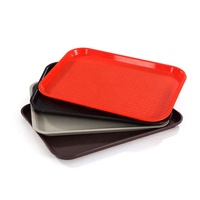 Plastic Serving Trays Fast Food Tary Plastic Non-slip Tray with Texture Surface