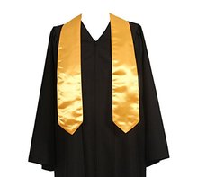Adult Gold Graduation Sash Stole 60 inches long
