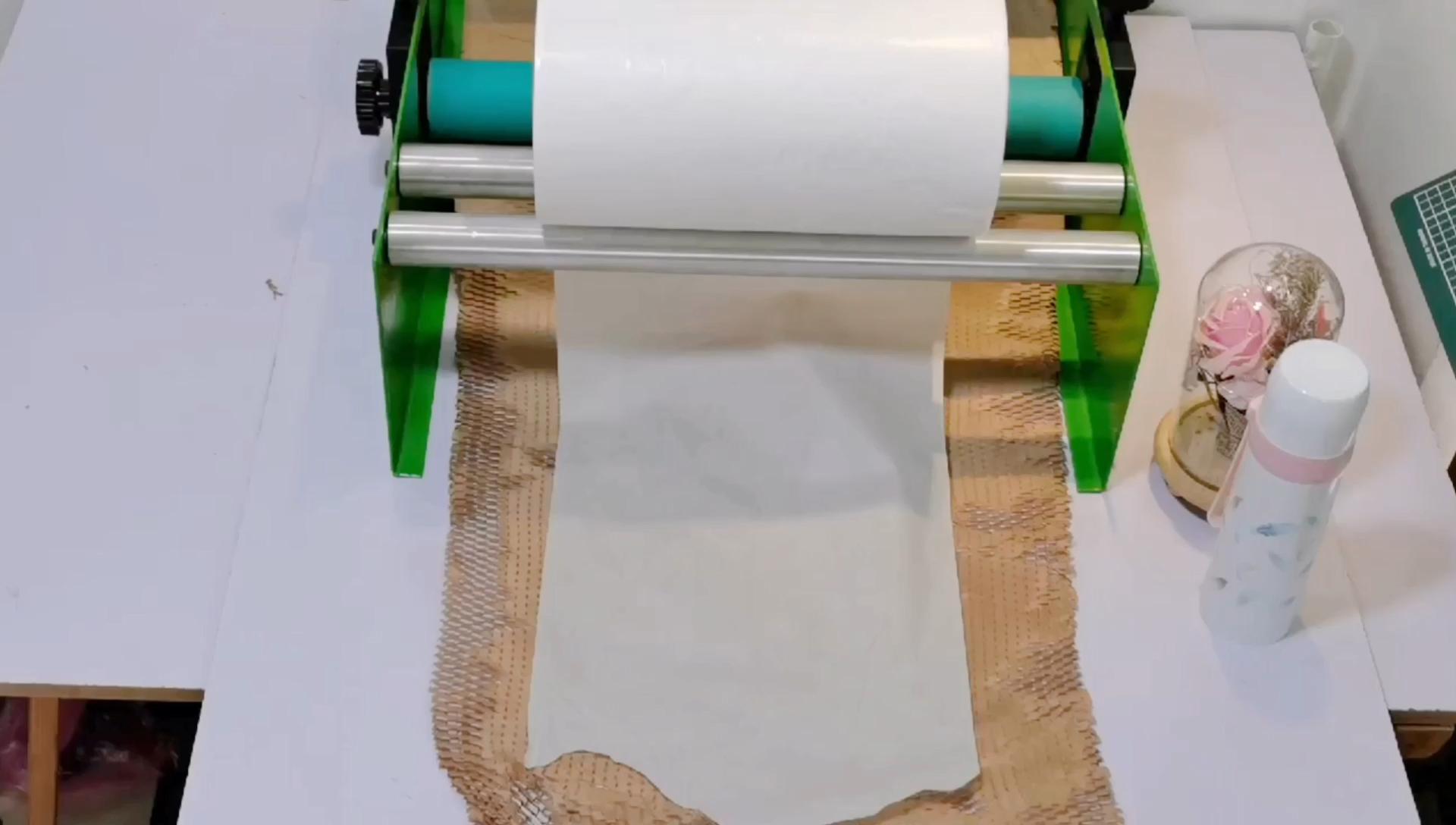 38 centimetri * 180m Marrone A Nido D'ape Bianco Kraft di Carta A Nido D'ape di Carta Da Imballaggio All'ingrosso Cuscino A Nido D'ape di Carta