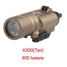 Пистолет фонарик для оружия Тактический свет X300UH-B X300U X300 Glock пистолет белый светодиодный охотничий фонарик для 20 мм Пикатинни(Китай)