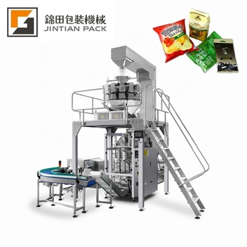 Lentil/Plantain Chips/Nuts Packing Machine With Multihead Weigher Automatic Filling Vertical Packaging Machine