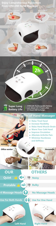 Massager Palm Massagers Electric Self Japan Heated Acupressure Finger Vibration Vibrating Usb Shiatsu  Hand Massage Tool