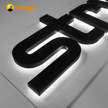 Disesuaikan Channel Akrilik <span class=keywords><strong>Huruf</strong></span> 3D LED Display Papan Backlit Terang Letter Sign
