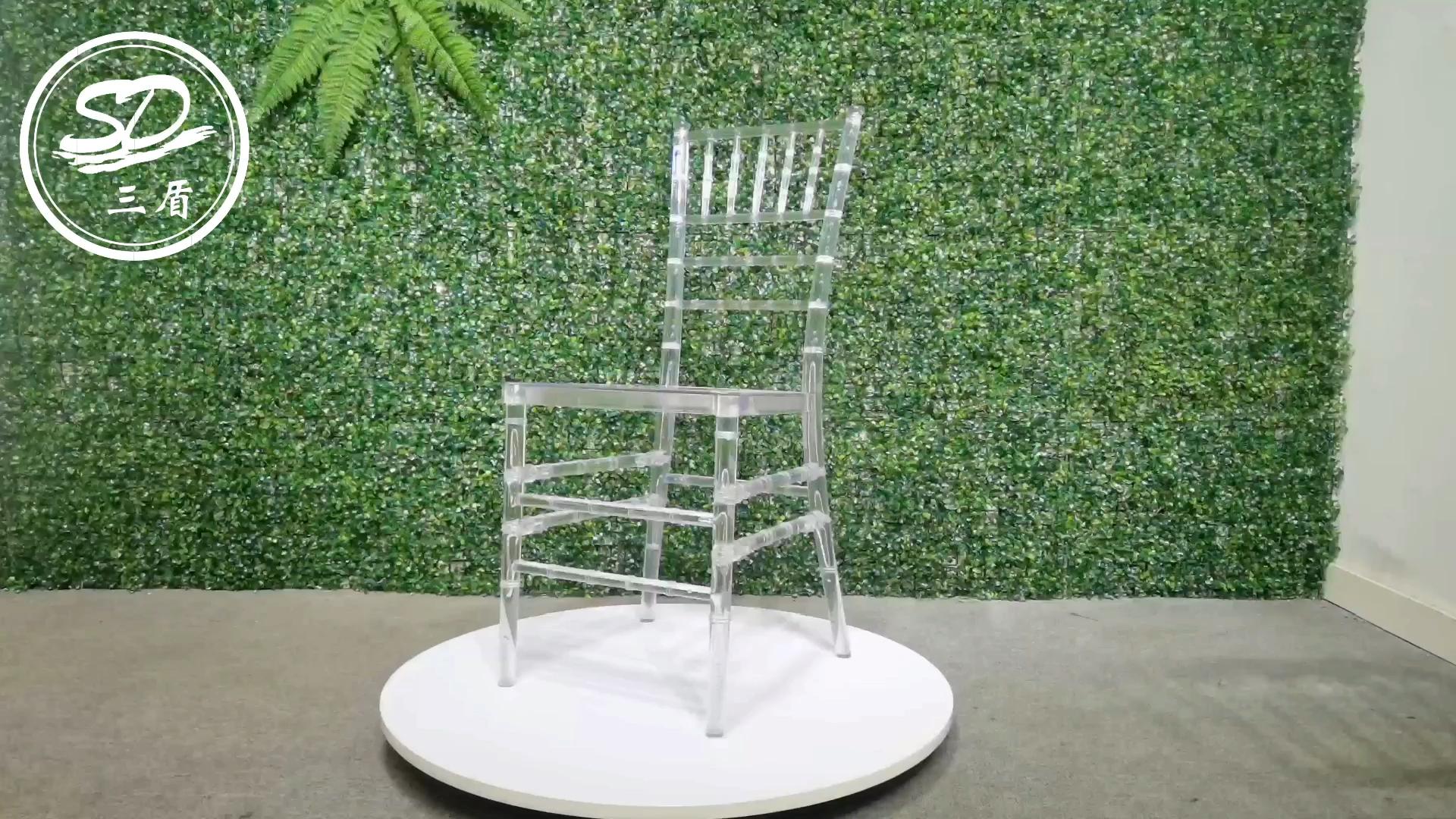 Evento da Festa de Casamento De Cristal Do Casamento de Resina acrílica Transparente Chiavari Cadeira Tiffany