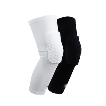 2018 trending hot selling basketball anti-slip honeycomb knee pads 7mm leg knee compression pads sleeve