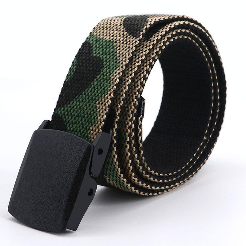 Bulk Stock 3.8cm Double D RingsMen Women Cotton Canvas Belt