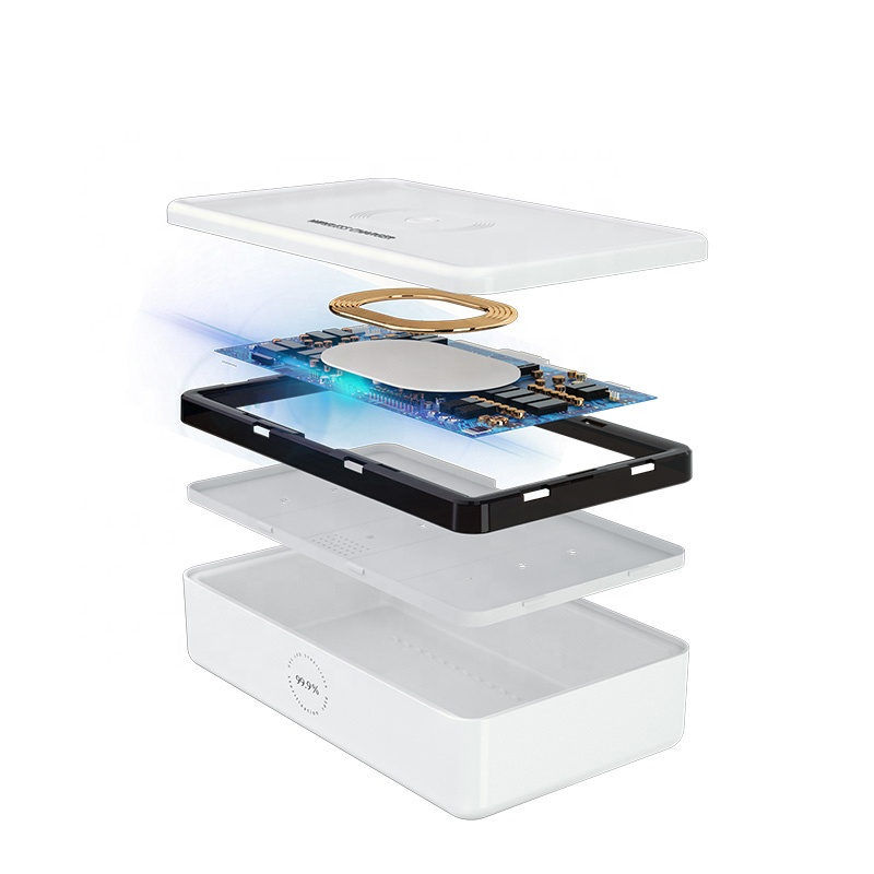 3 in 1 wireless charger for Iphone and for Apple Watch with UV  function