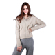 Fashion cashmere solid women short cable knitted ladies cardigan sweater
