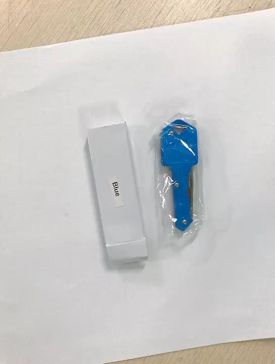 MINI Pocket มีดสแตนเลสพับล่าสัตว์ตั้งแคมป์เครื่องมือโลโก้ที่กำหนดเอง Self Defense พวงกุญแจของขวัญ