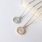 Sterling Silver Material Type Imitation Diamond Jewelry Necklace