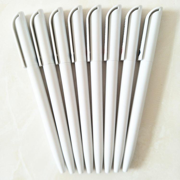 פרסום קידום מכירות מתנה לבן פלסטיק כדור עט אישית עטים עם לוגו מותאם אישית