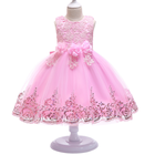 D0037 Baby Fancy Girl Frocks Design Beautiful Design Hot Sale Children Flower Kids Party Dress