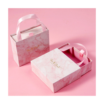 Gorgeous Pink Marbled Box Custom Colour Small Paper Box Gift Box Packaging Drawer