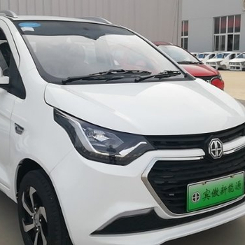 Four-wheel white right drive electric car in china hot sell