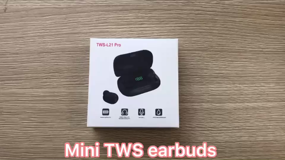 OEM Mini Portable in ear  TWS True Wireless Earbuds Headphone Earphone