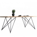 Nordic Style Hot Selling metal Wood Home Furniture Modern Solid Wood Office Table Fashion Wooden Table For Dining Room